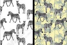 Cotton Jersey UV-Toverstof Zebra