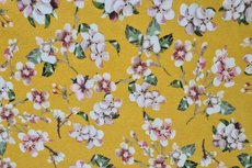 Viscose Jersey Digital Cherry Blossom Yellow