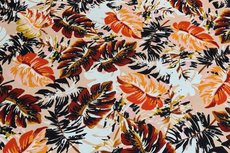 Viscose Jersey Tropical Flowers Nude
