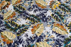 Viscose Jersey Tropical Flowers Grey