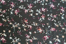 Viscose Jersey Little Flower Black