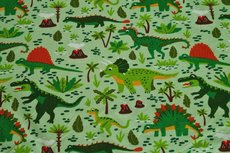 Cotton Jersey Dino's  Lime