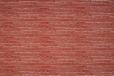 Cotton Jersey Vintage Stripes Brick