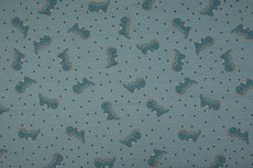 Cotton Jersey Little Dragon Old Blue