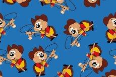 Cotton Jersey Hamster Cowboy Kobalt