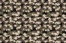 Cotton Jersey Army Camou Green Brown 2