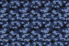 Cotton Jersey Army Camou Blue 2