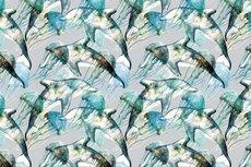 Cotton Jersey Digital Dolphin Blue