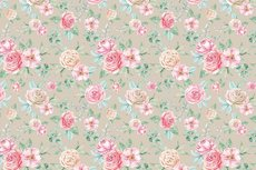 Cotton Jersey Digital Roses Taupe/Sand