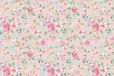 Cotton Jersey Digital Roses Light Pink
