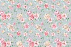 Cotton Jersey Digital Roses Light Grey