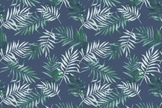 Cotton Jersey Digital Palm Dark Jeans