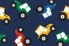 Cotton Jersey Tractor Navy 2
