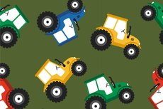 Cotton Jersey Tractor Green 2