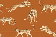 Cotton Jersey Leopard Oker