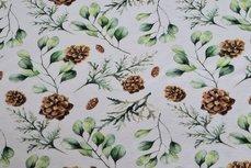 Cotton Jersey Digital Vintage Flowers Off White 2