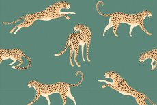 Cotton Jersey Leopard Old Green
