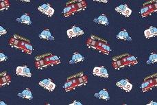 Cotton Jersey Emergency Cars Navy