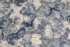 Cotton Jersey Digital Flowers Beige 2