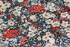 Cotton Jersey Flowers Red
