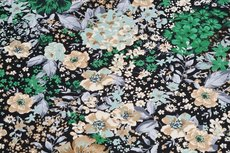 Cotton Jersey Flowers Green