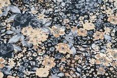 Cotton Jersey Flowers Beige