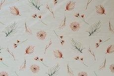 Cotton Jersey Digital Vintage Flowers Off White 4
