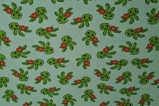 Cotton Jersey Happy Turtle Mint