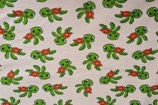 Cotton Jersey Happy Turtle Beige