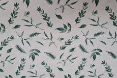 Cotton Jersey Twigs White/Green
