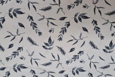 Cotton Jersey Twigs White/Blue