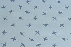 Cotton Jersey Birds Light Blue 1