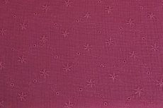 Mousseline Embroidery Bordeaux
