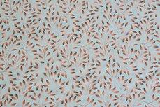 Cotton Jersey Digital Twigs Mint