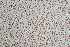 Cotton Jersey Digital Twigs Creme