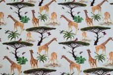 Cotton Jersey Digital Giraffe Off White