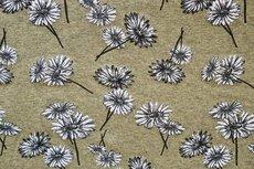 Cotton Jersey Melange Flowers Olive