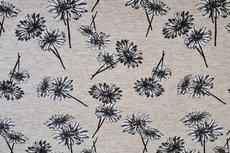 Cotton Jersey Melange Flowers Creme/Beige