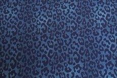 Cotton Jersey Melange Leo Blue