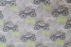 French Terry Monstertrucks Grey