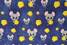 Cotton Jersey Digital Mouse Jeans Look