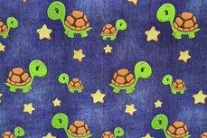 Cotton Jersey Digital Turtle Jeans Look