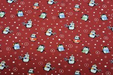 Cotton Jersey Penguin Red