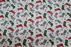 Christmas Cotton Socks Off White 9