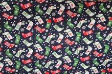 Christmas Cotton Socks Navy 9