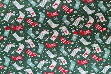 Christmas Cotton Socks Green 9