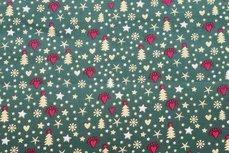 Christmas Cotton All Over Green1