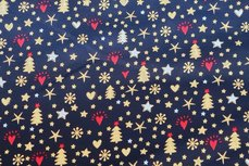 Christmas Cotton All Over Navy 1