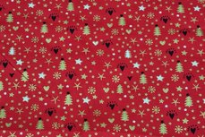 Christmas Cotton All Over Red1