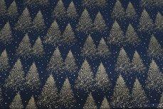 Christmas Cotton Tree Navy 3